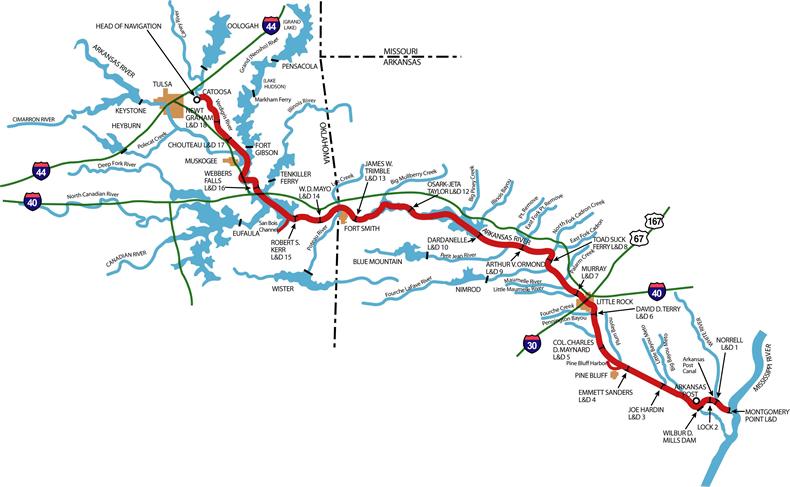 map tulsa district navigation